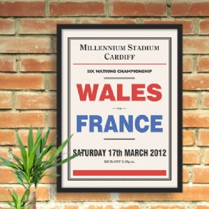 Personalised Sporting Event Print from Wallspice :: Your Words on Our Art